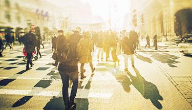 People Walking Robson Square
