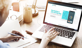 Browsing Lifeguard Digital Health on Laptop